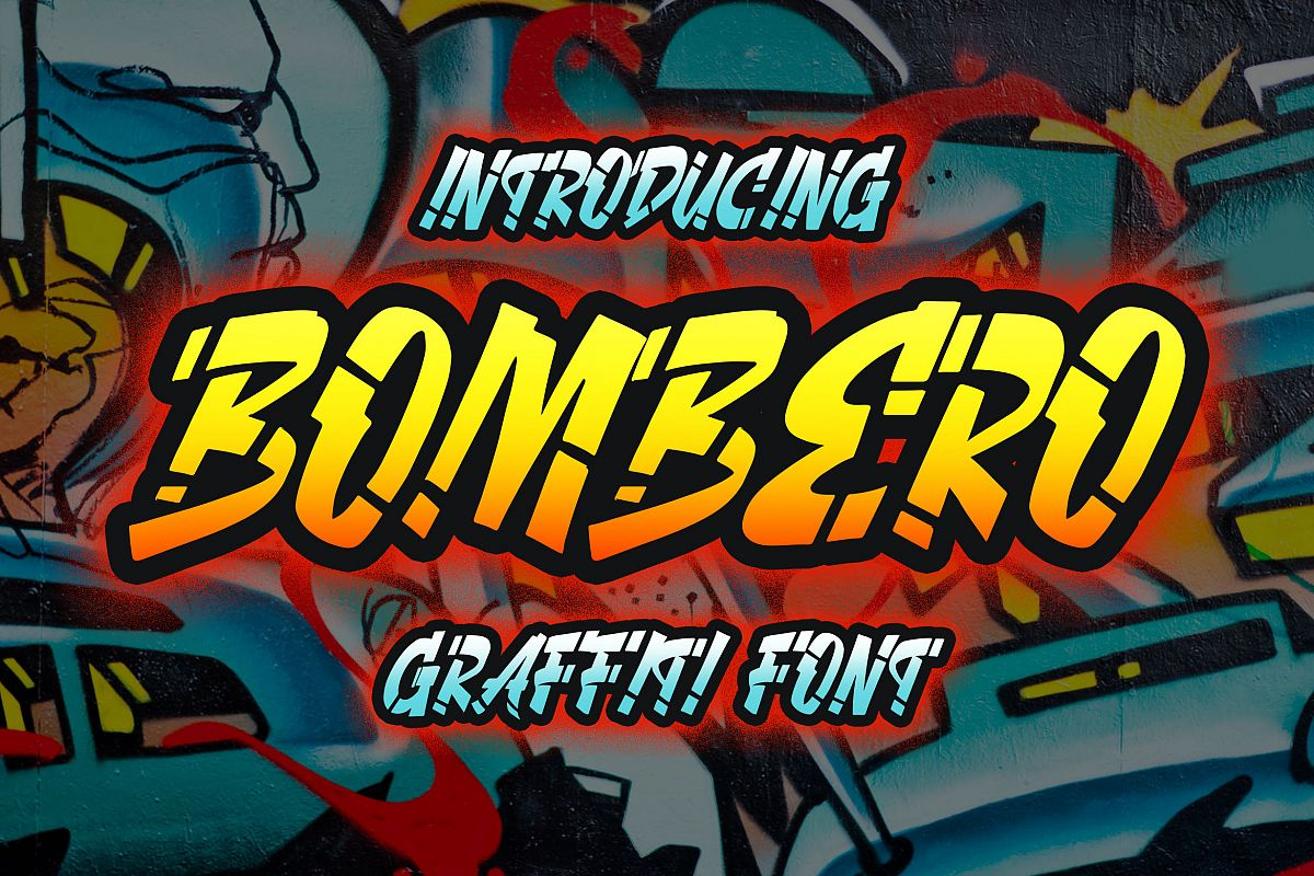 Bombero - Graffiti Font example image 1