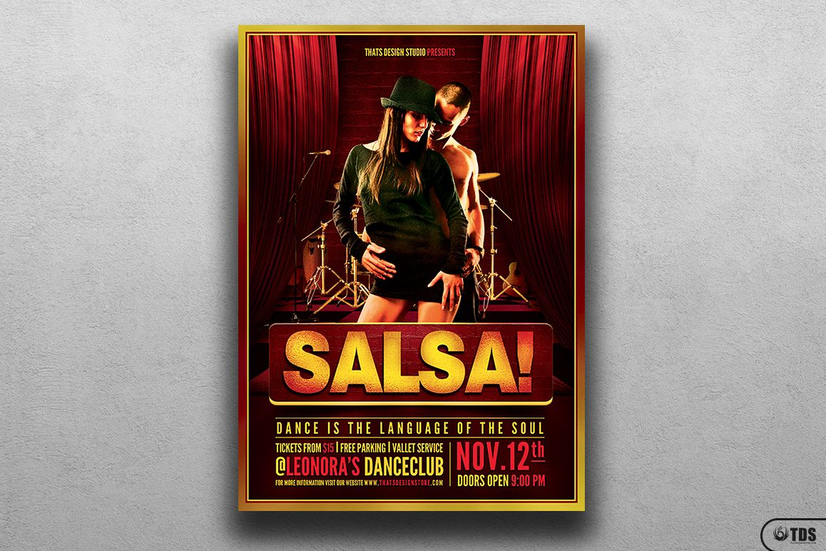 Salsa Caliente Flyer Template example image 1