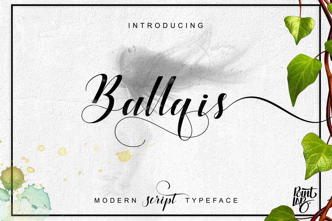 Ballqis Script_OFF 40% example image 1