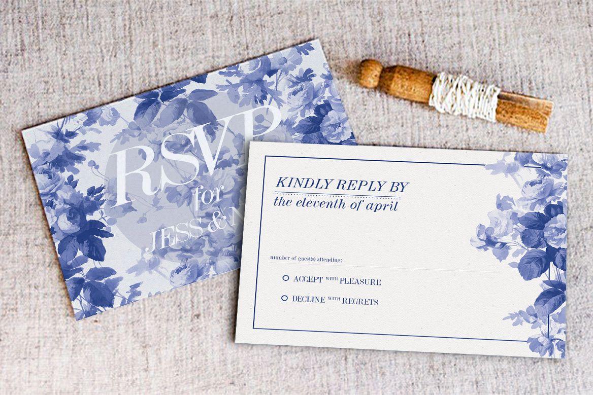 China Blue Wedding Invitation example image 1