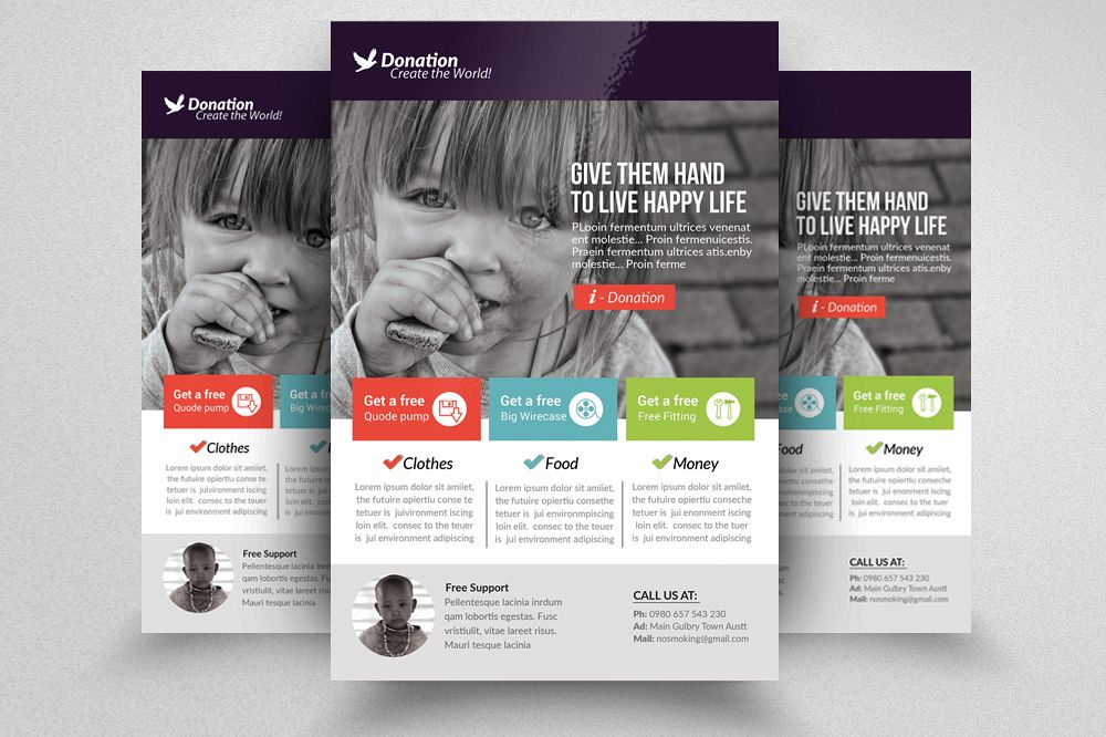 Charity & Donation Flyer Templates example image 1