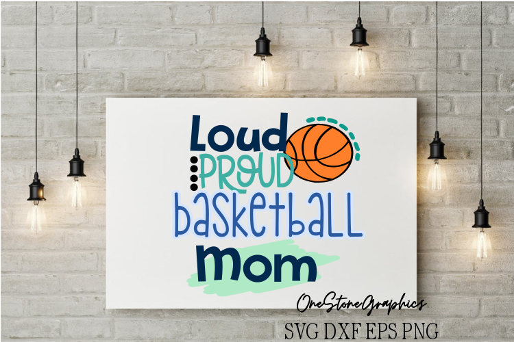 loud proud Basketball mom example image 1