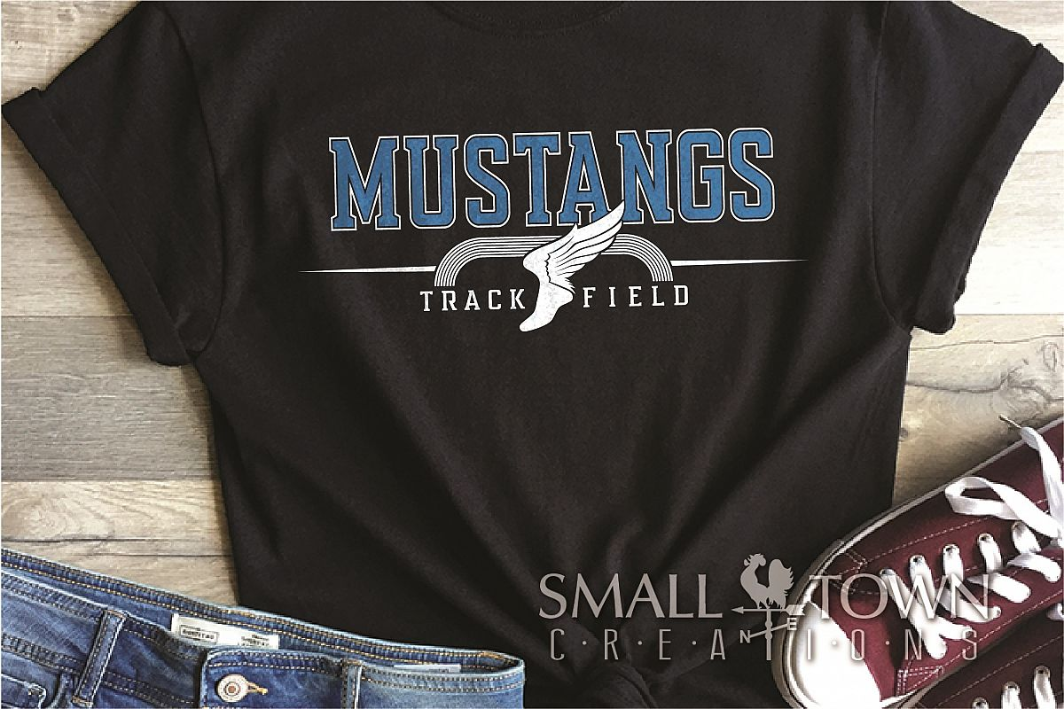 Mustang, Mustang Track and Field, Sport, PRINT, CUT & DESIGN example image 1