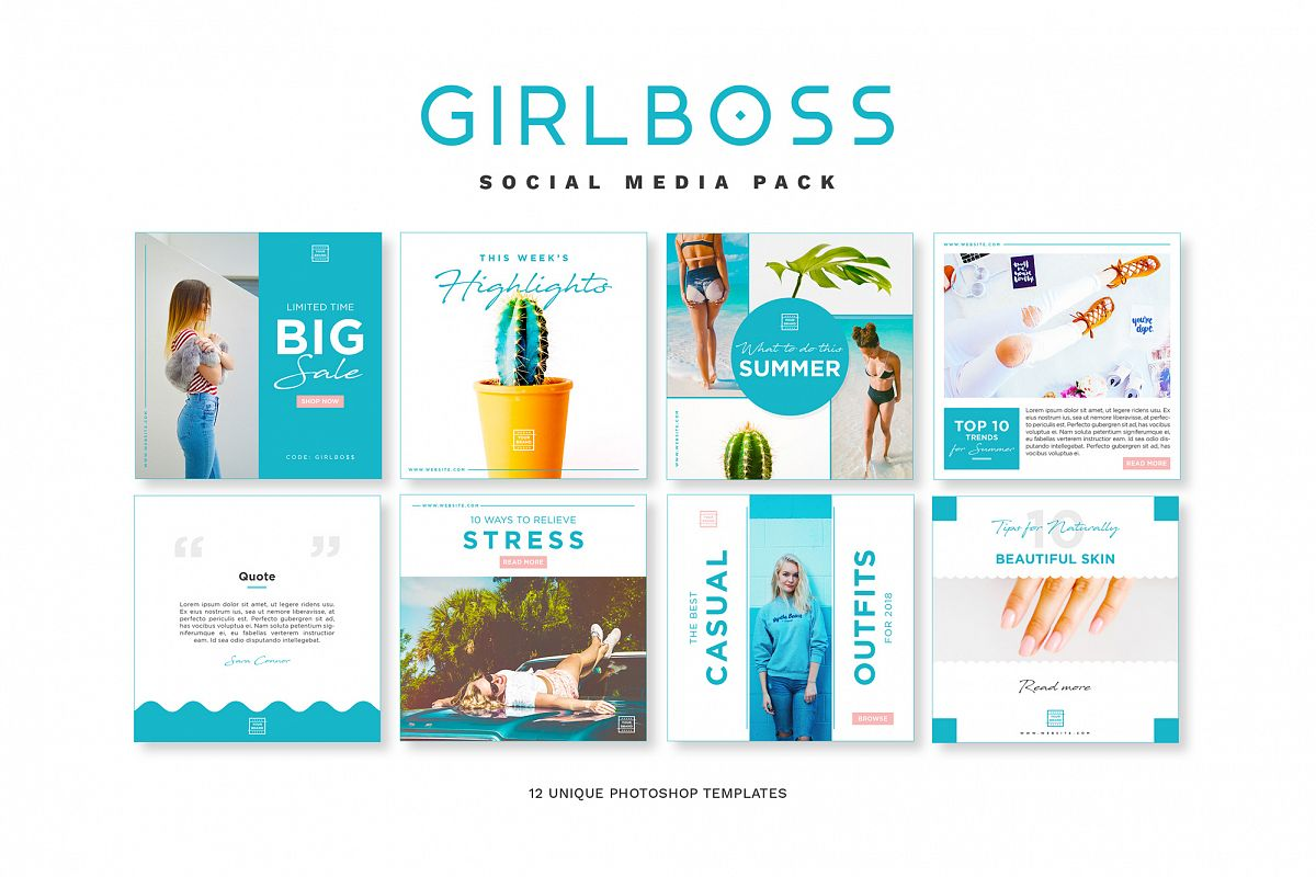 Girlboss Social Media Pack example image 1