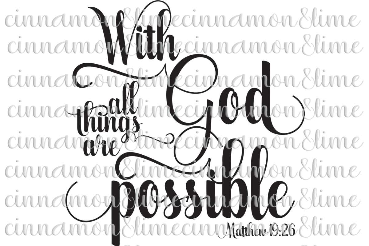 With God All Things Are Possible Christian SVG example image 1