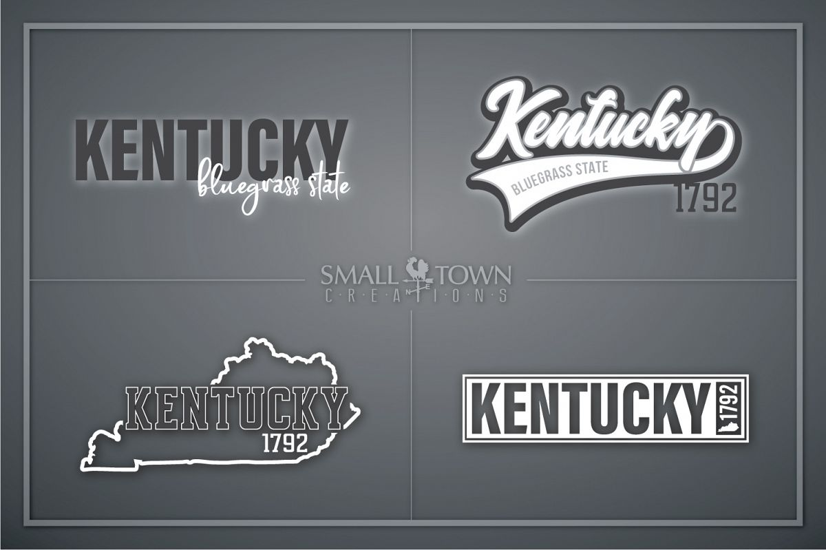 Kentucky, Bluegrass State-slogan, Logo, PRINT, CUT & DESIGN example image 1