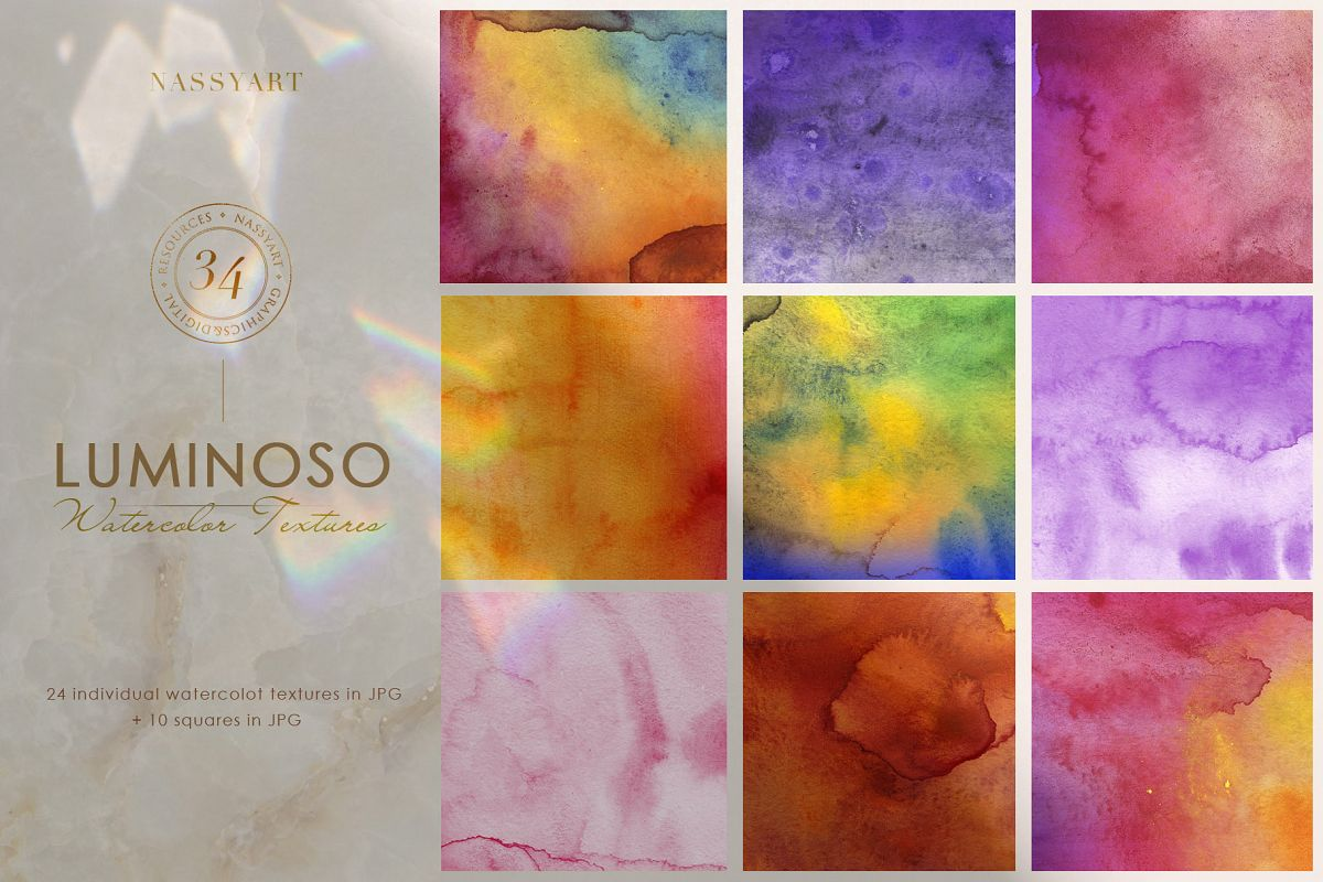 Luminoso Watercolor Textures example image 1