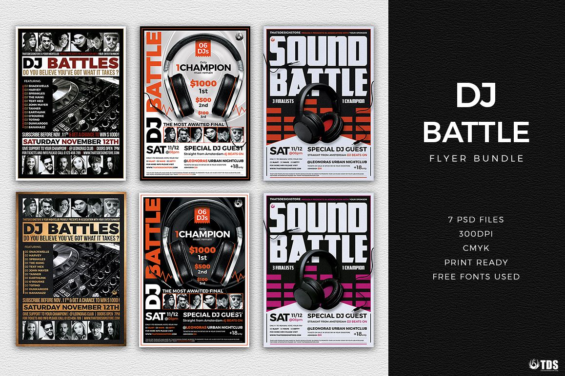 DJ Battle Flyer Bundle example image 1