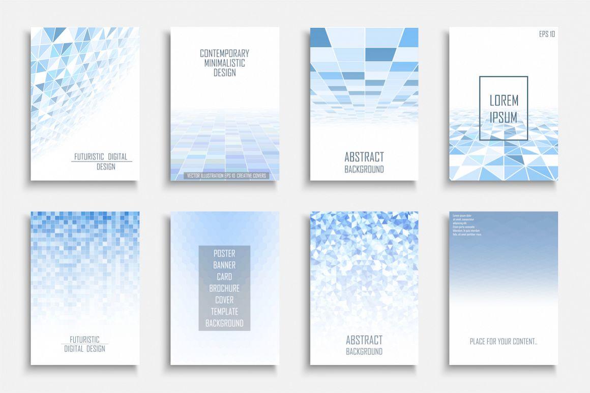 Blue mosaic digital covers,brochures example image 1