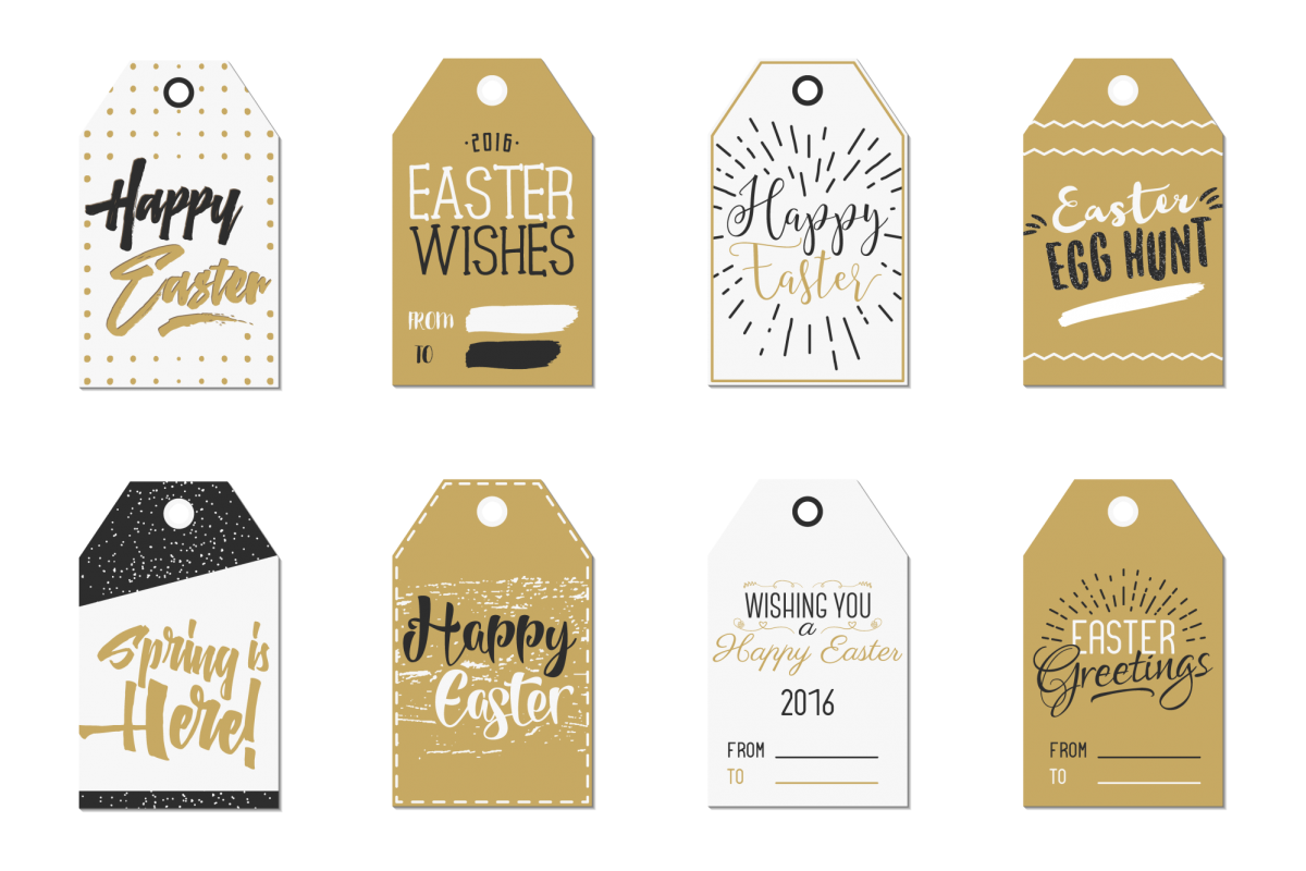 Easter Gift Tags Collection example image 1