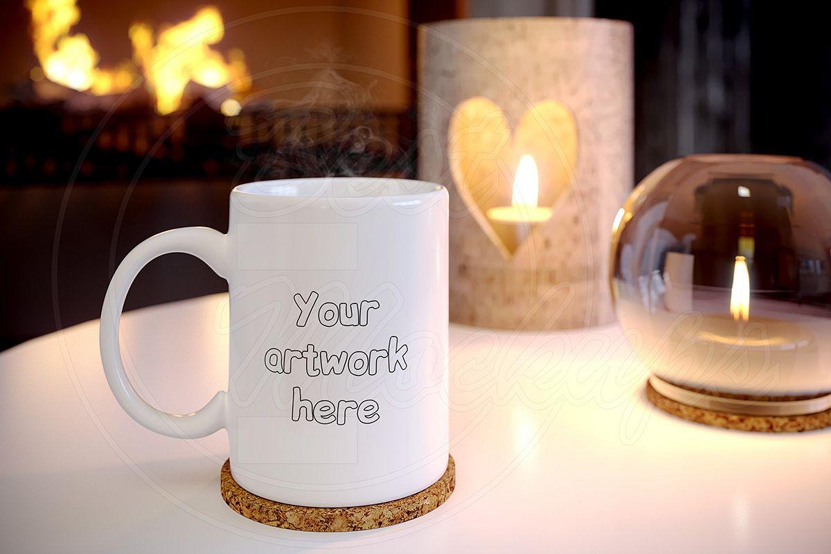 White coffee MUG mock up holidays example image 1