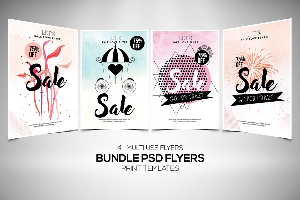 Sale Offer Typography Flyer Template example image 1