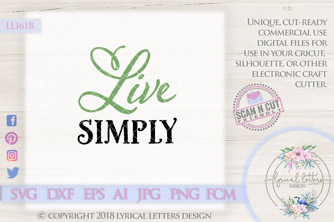 Live Simply SVG Cut File LL161B example image 1