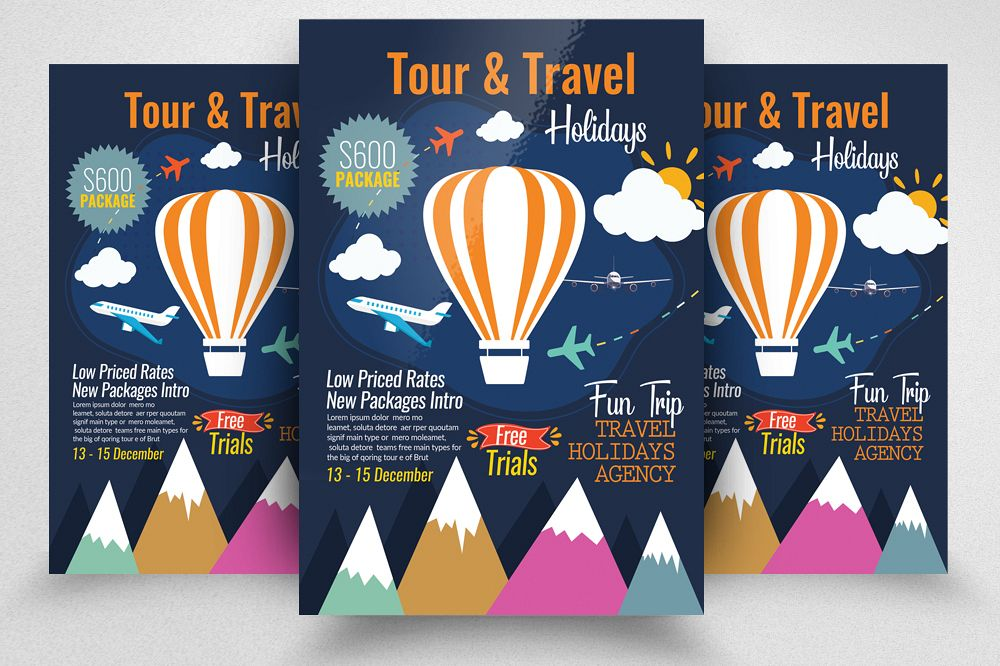 Tour & Traveling Agency Flyer Template example image 1
