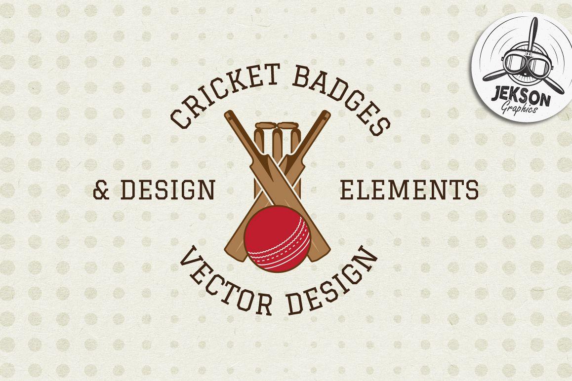 Cricket Badges & Design Elements example image 1