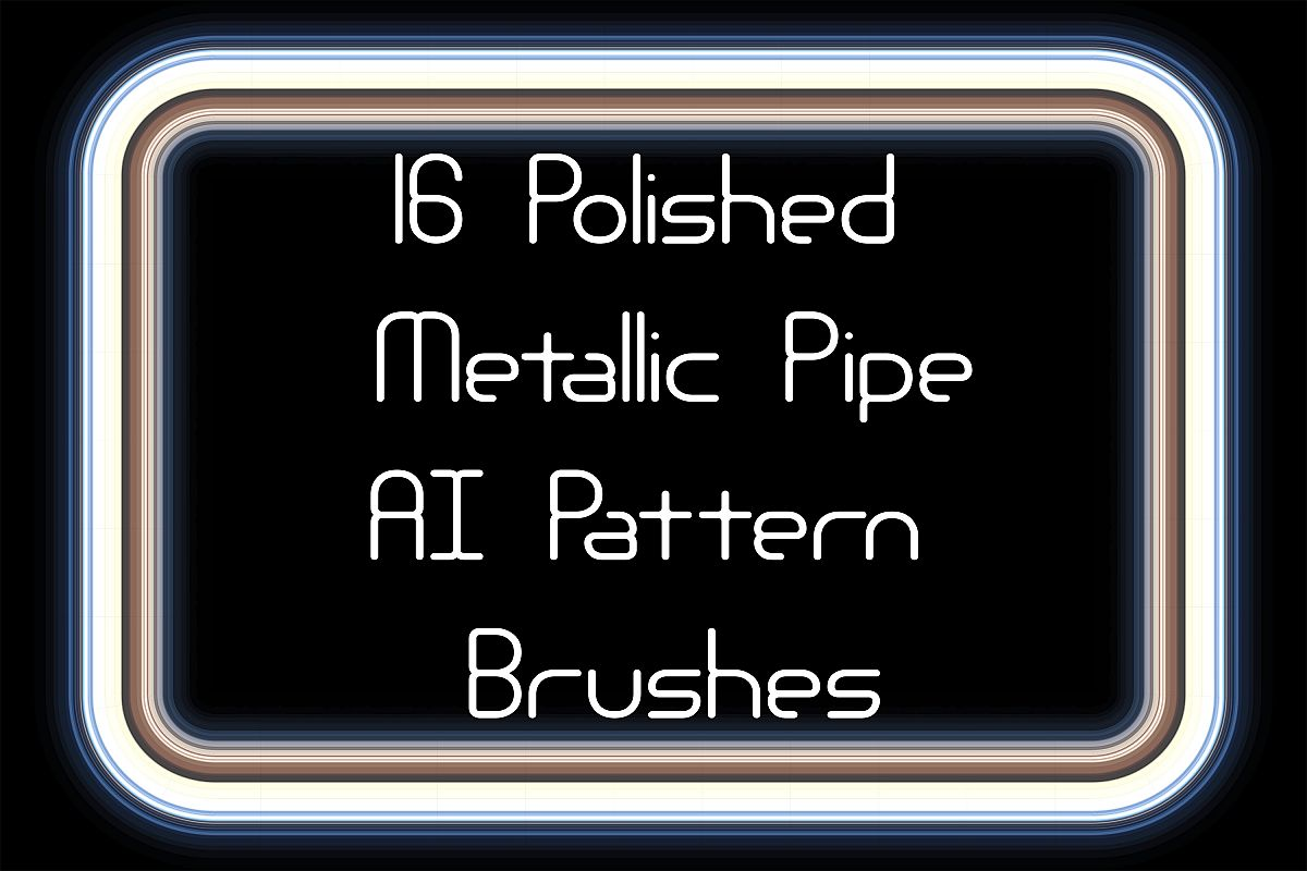 16 Polished Metal Pipe AI Pattern Brushes example image 1