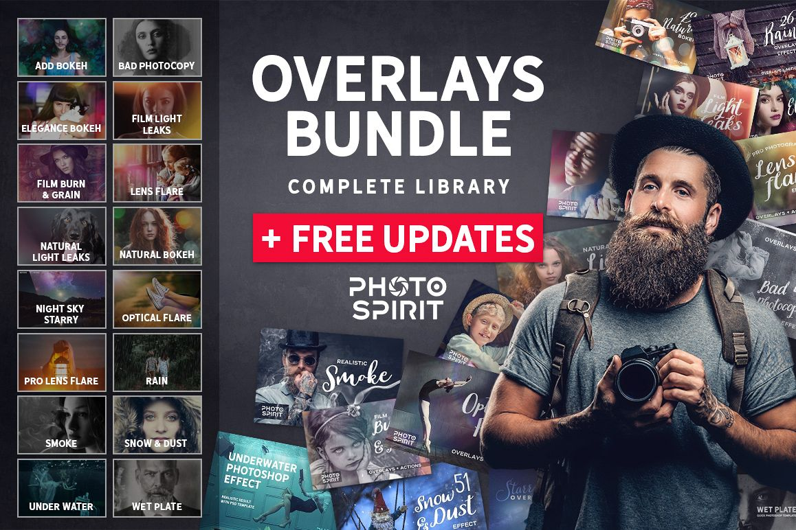 OVERLAYS MEGA BUNDLE  FREE Updates! example image 1