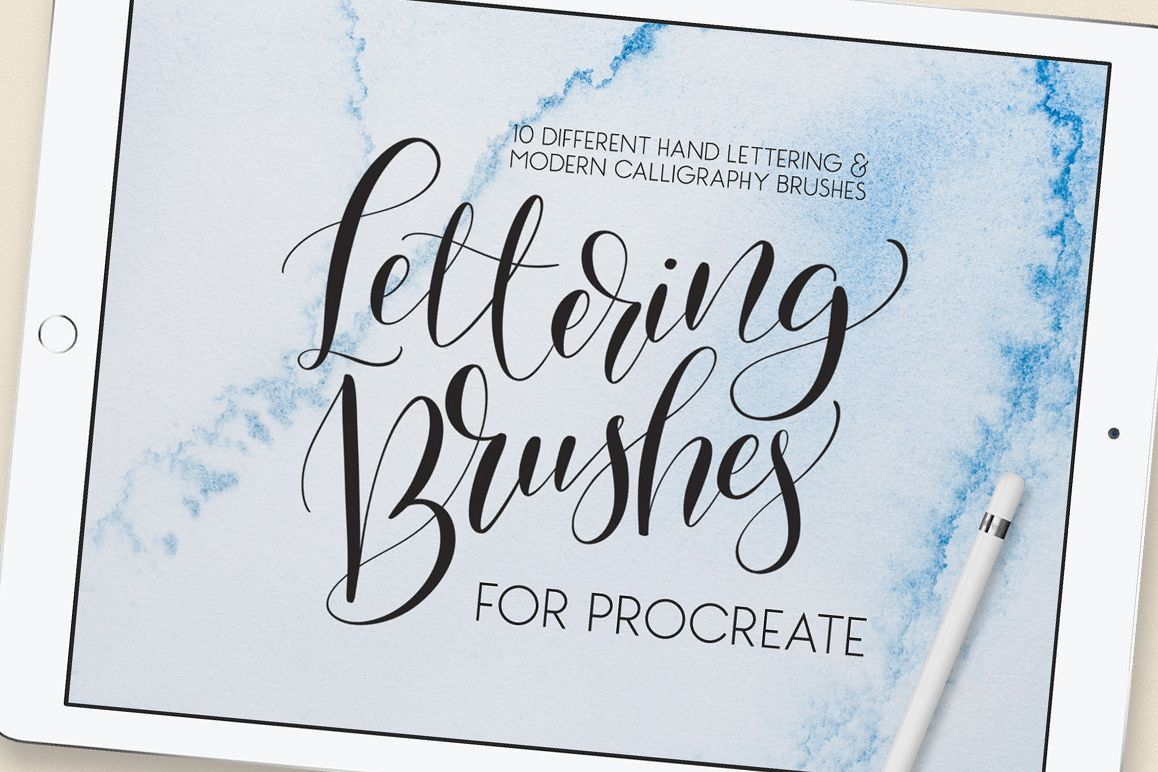 Lettering Brush Pack For Procreate Example Image