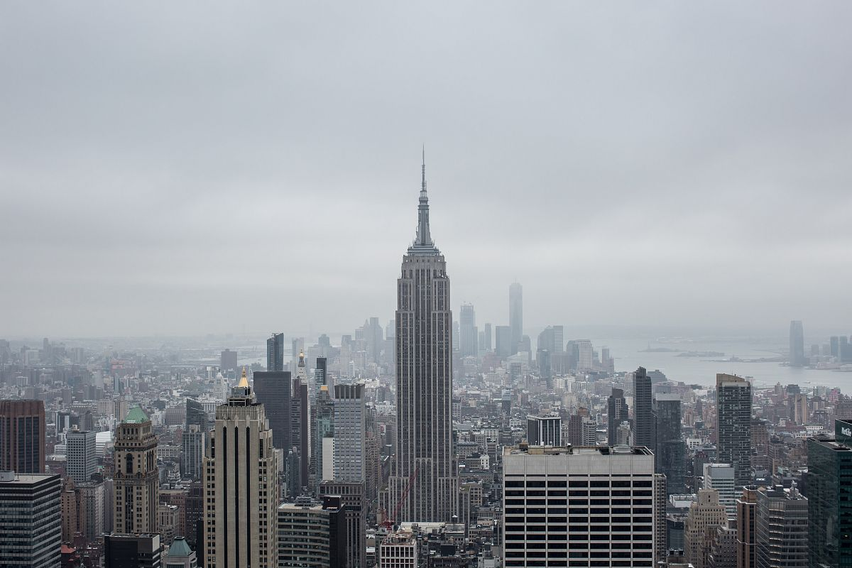 Manhattan view on cloud day	 example image 1