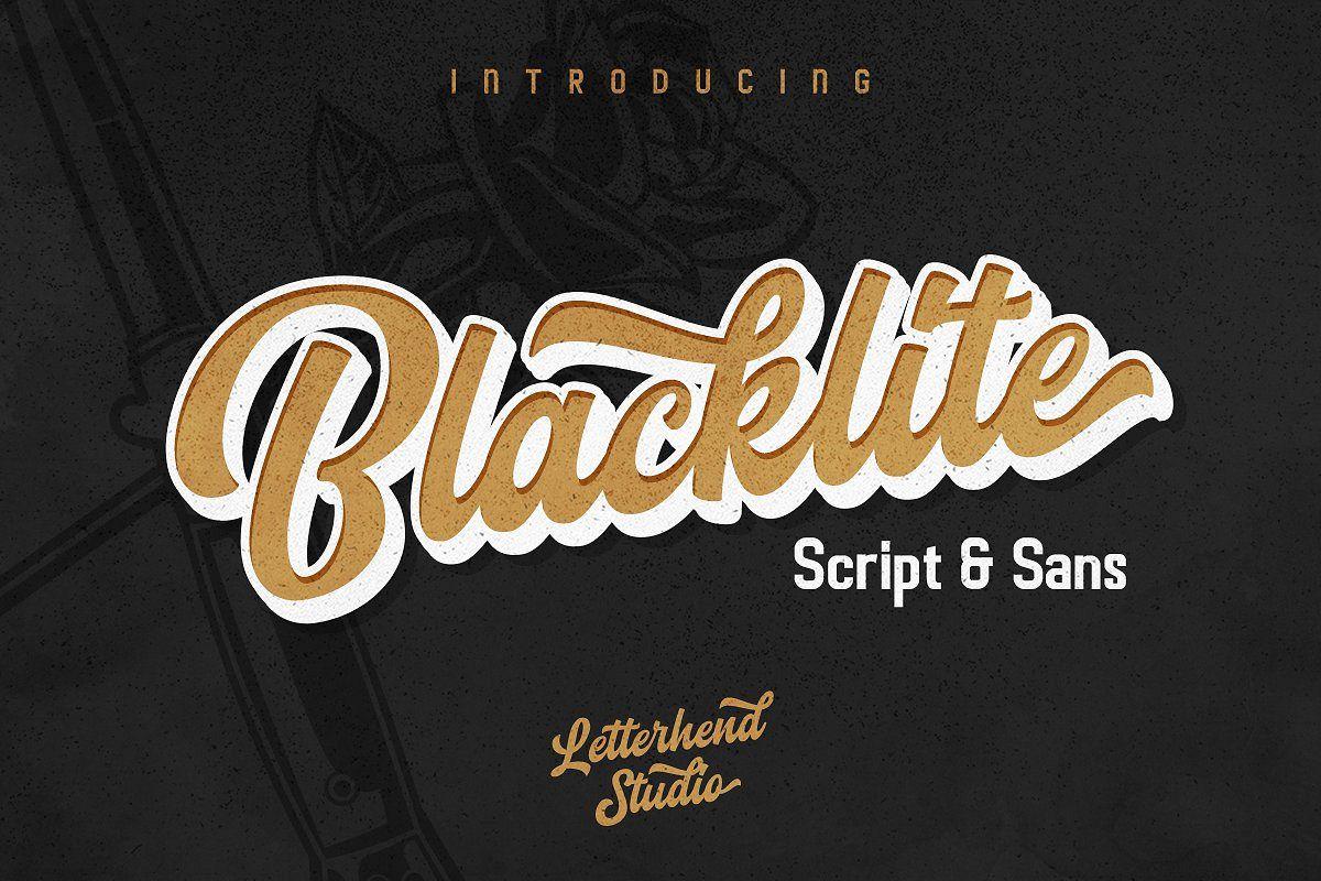 Blacklite - The Bold Script & Sans example image 1