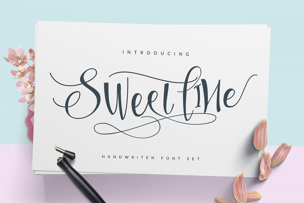 Sweetline Typeface example image 1