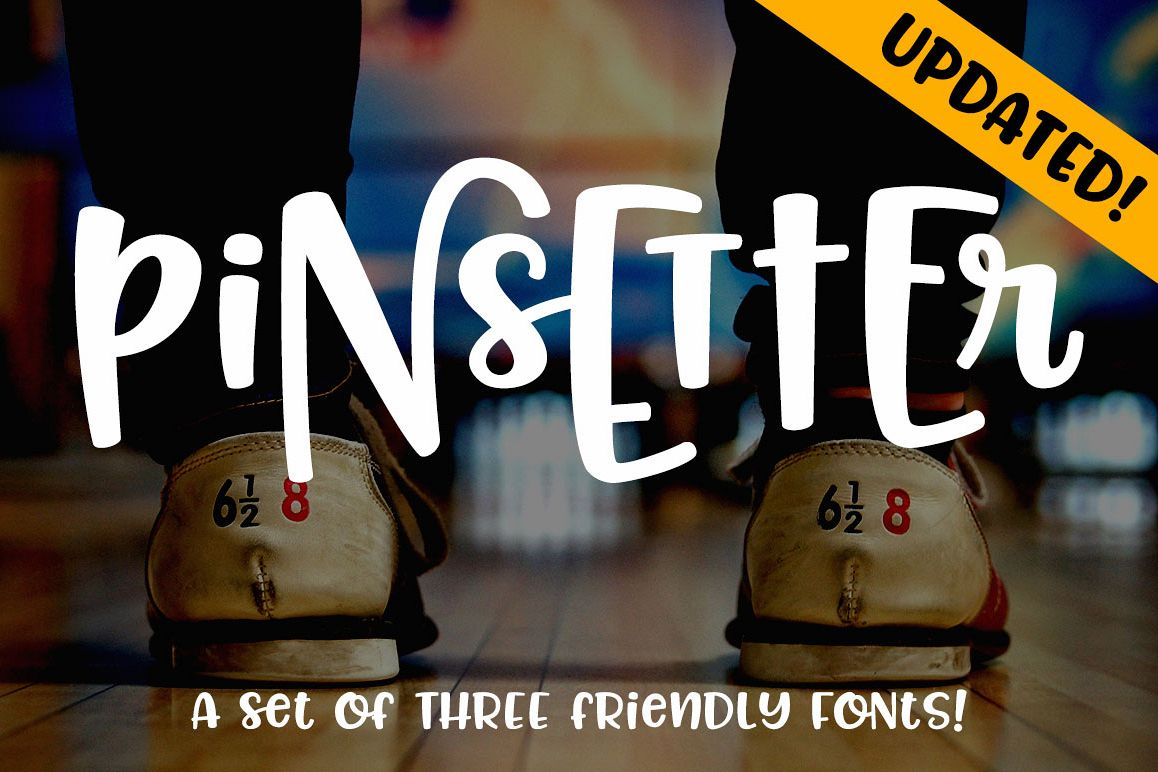 Pinsetter three fun fonts! example image 1