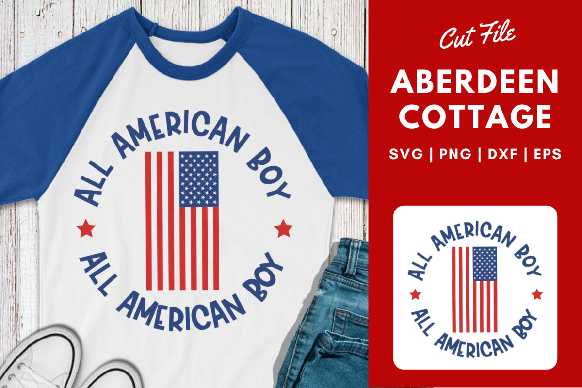 All American Boy| July Fourth | Memorial Day SVG example image 1