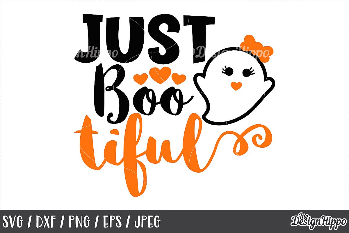 Just bootiful svg, Bootiful, Boo, Halloween, Ghost, SVG, PNG example image 1