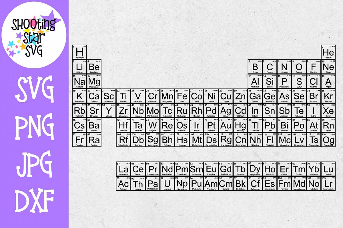 Periodic Table SVG - Nerdy SVG - Science SVG - Word Art