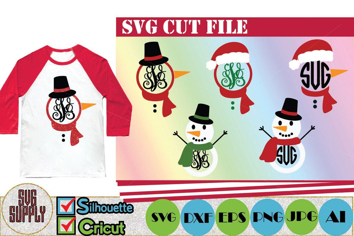 Snowman Set SVG Cut File example image 1