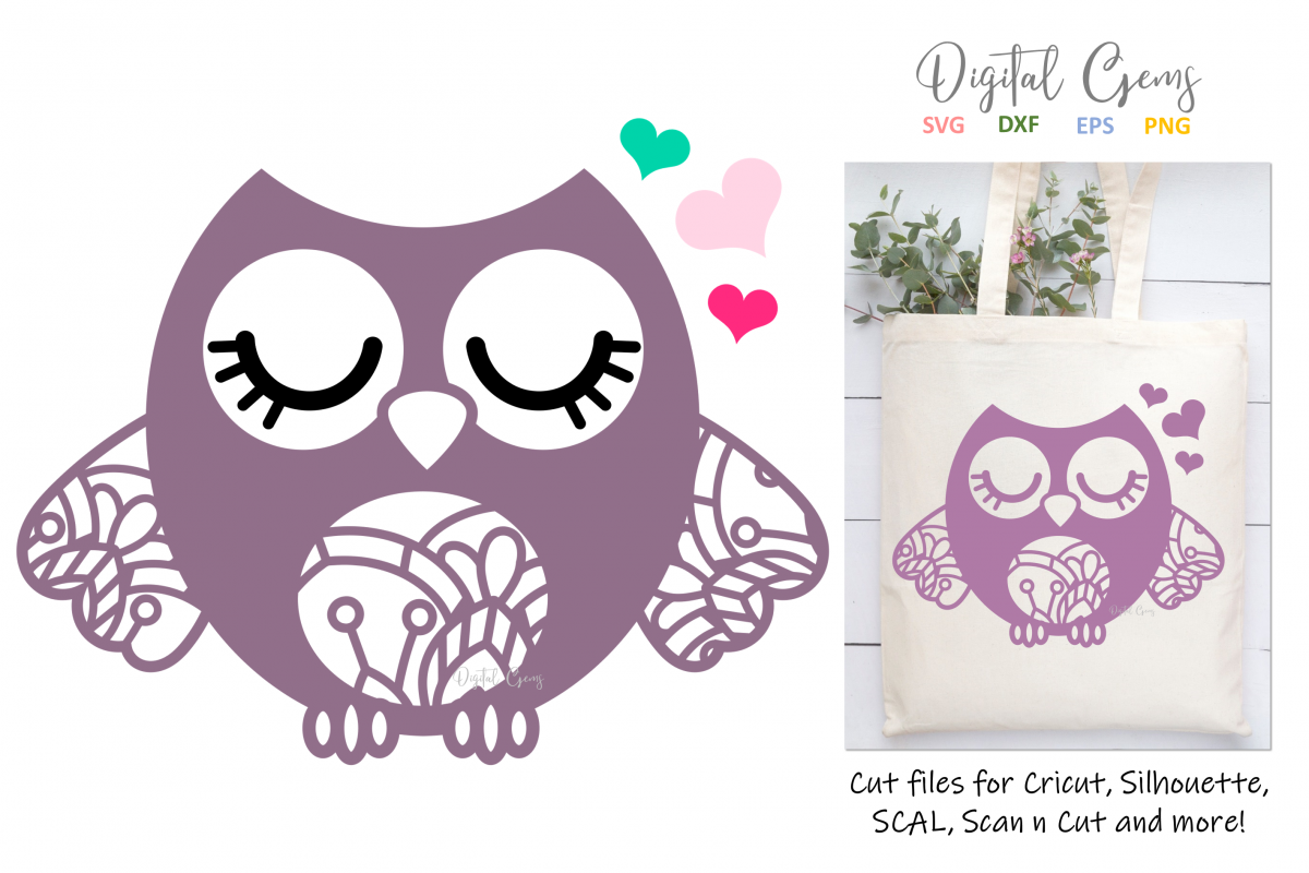 Owl SVG / EPS / DXF / PNG files example image 1