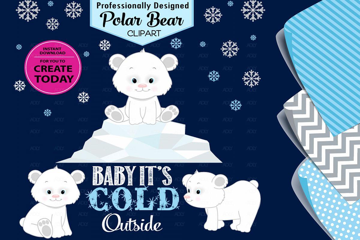 Polar Bear Cute White Arctic Winter Theme for Clip Art! example image 1