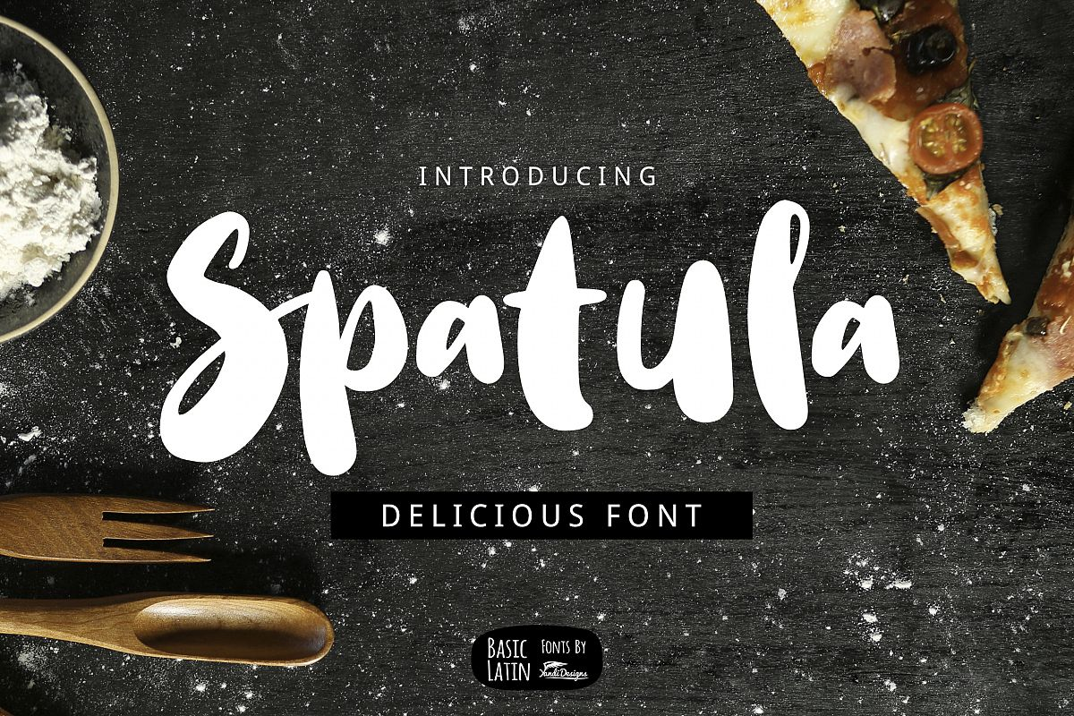 Spatula Cooking Font example image 1