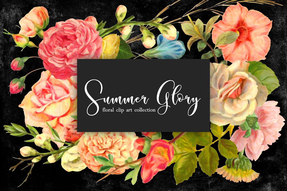 Floral Clip Art - Summer Glory example image 1