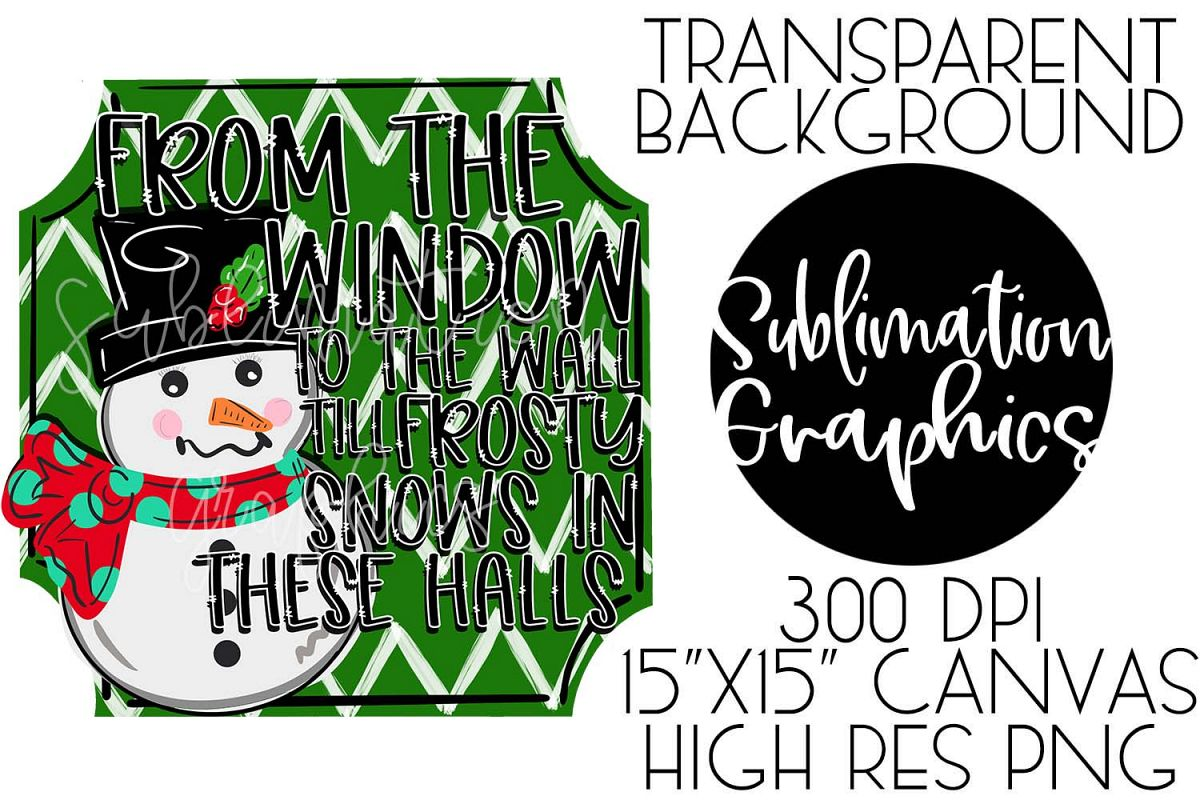 From The Window Sublimation Digital Download example image 1