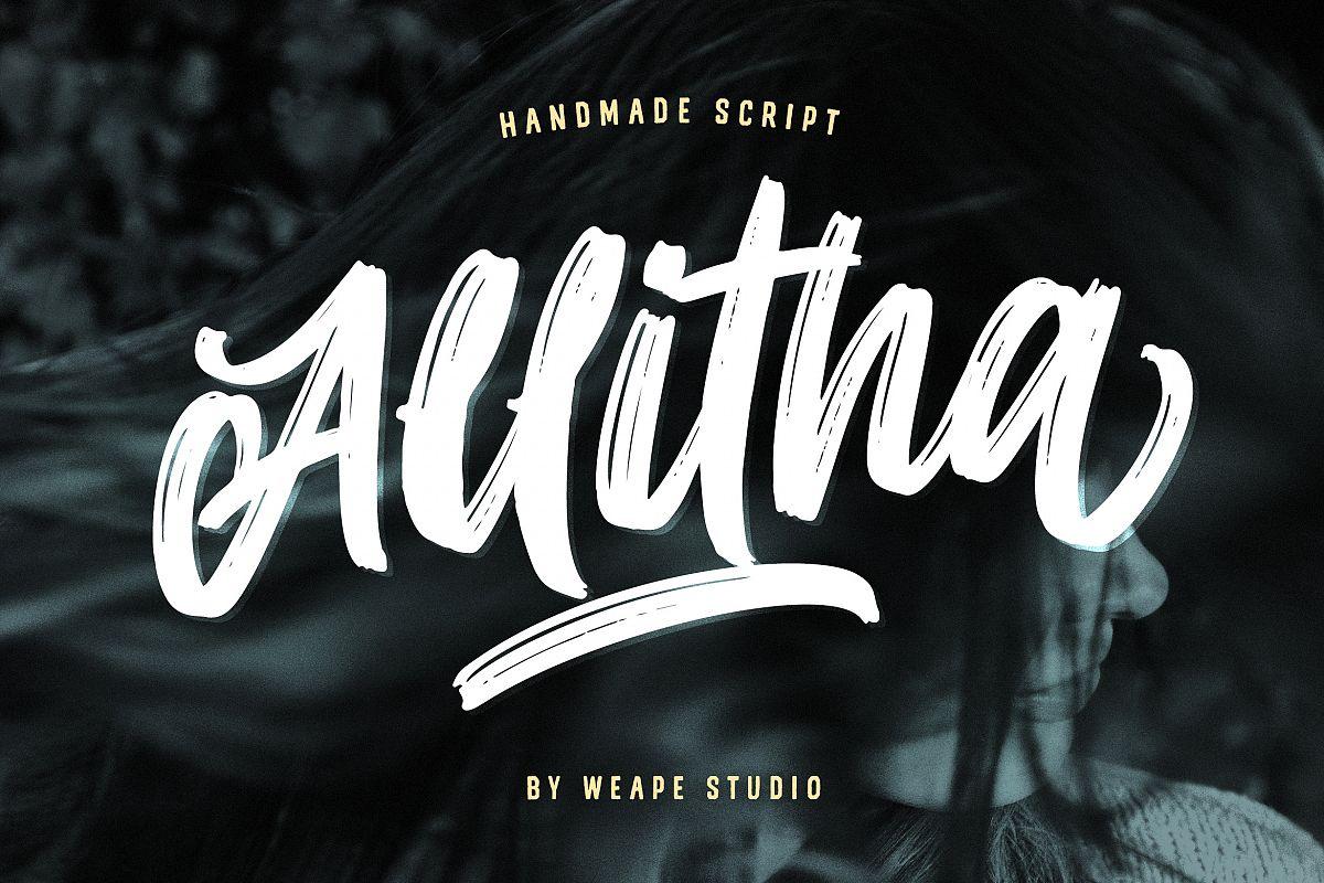 Allitha Handmade Script example image 1