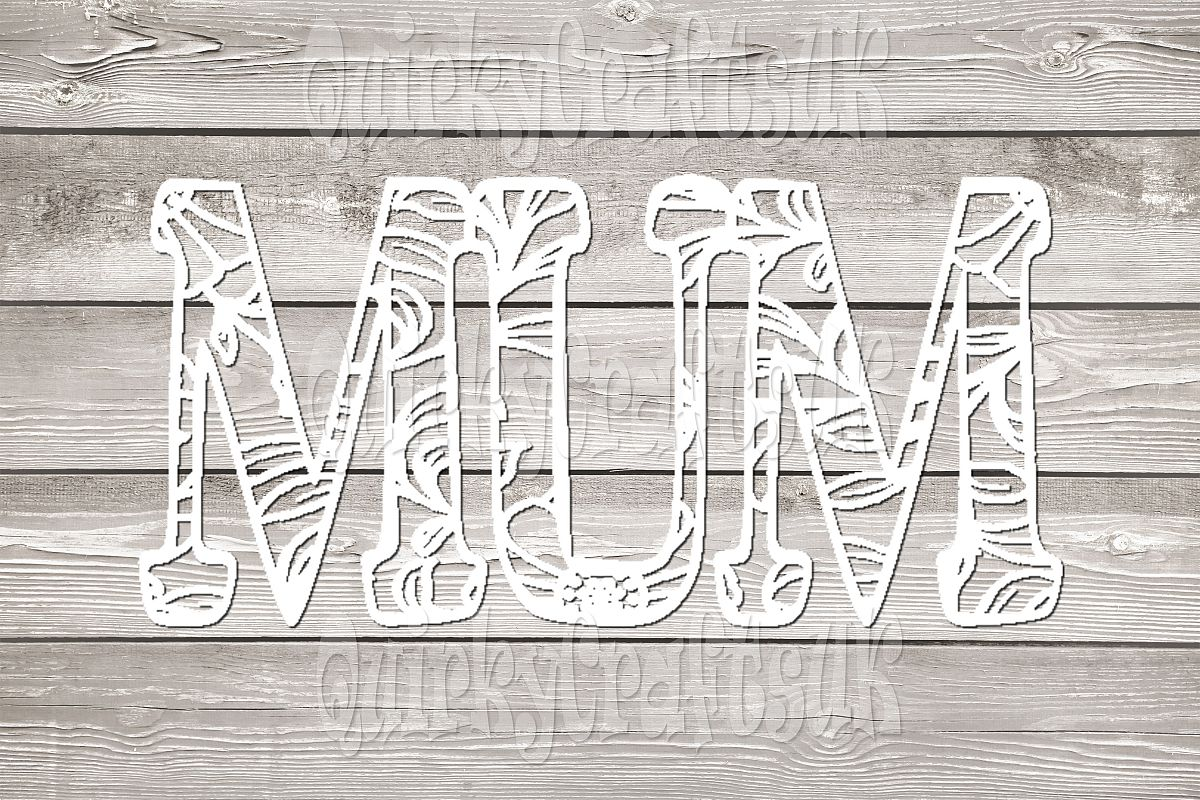 2 sets of MUM floral papercutting templates|PNG/PDF/SVG/DXF example image 1