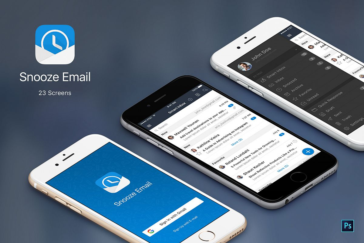 Snooze Mail UI Graphic example image 1
