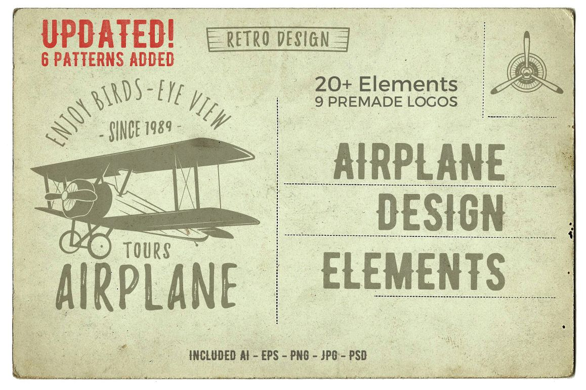 Airplane Badges & Design Elements example image 1