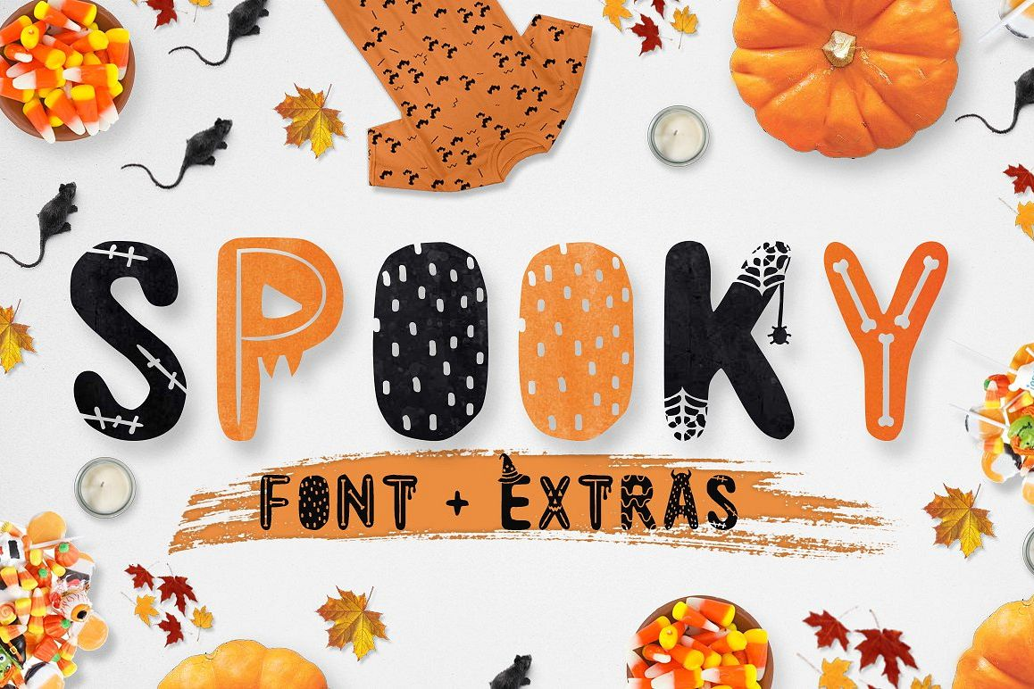 Spooky font with EXTRAS! example image 1