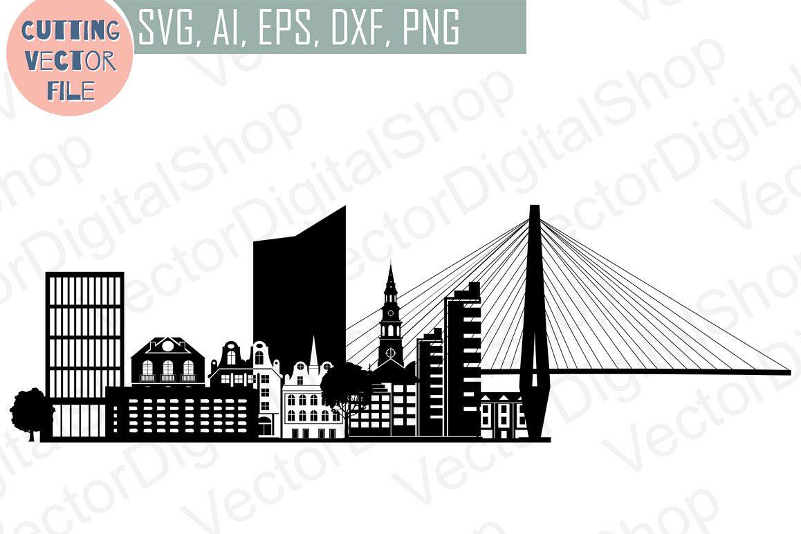 Charleston Skyline Vector, South Carolina USA city, SVG, JPG, PNG, DWG, CDR, EPS, AI example image 1