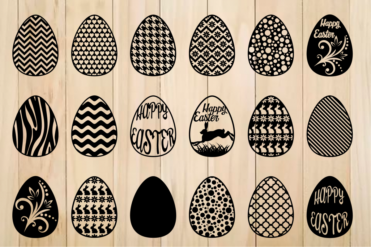 Easter Egg svg, Patterned Easter Eggs,Happy Easter example image 1