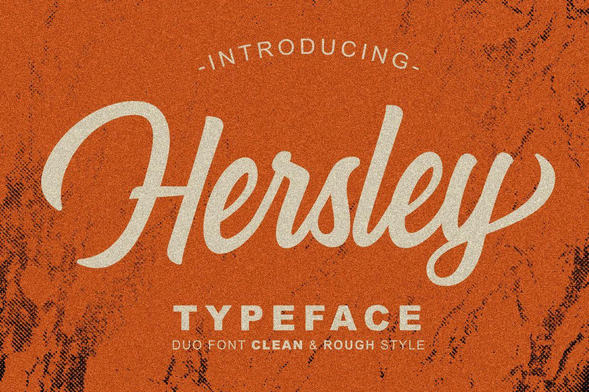 Hersley Typeface example image 1
