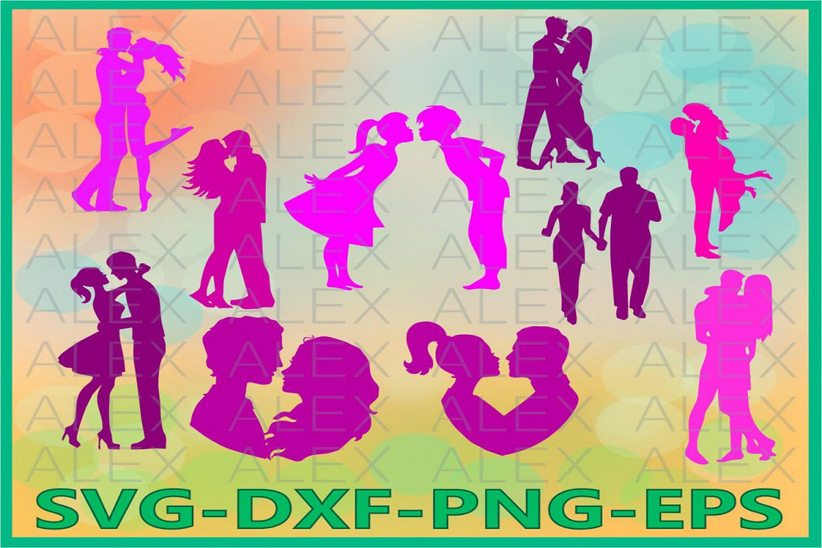 Couples SVG, Couple Silhouette, Couple Files svg example image 1