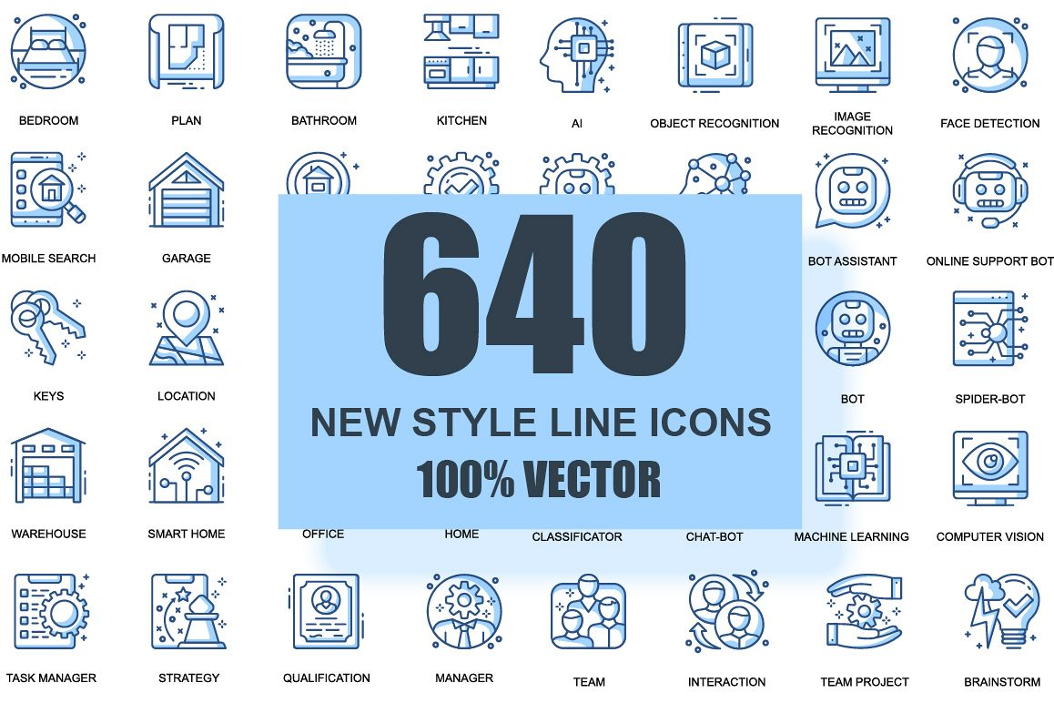 Bundle Business Thin Line Icons example image 1