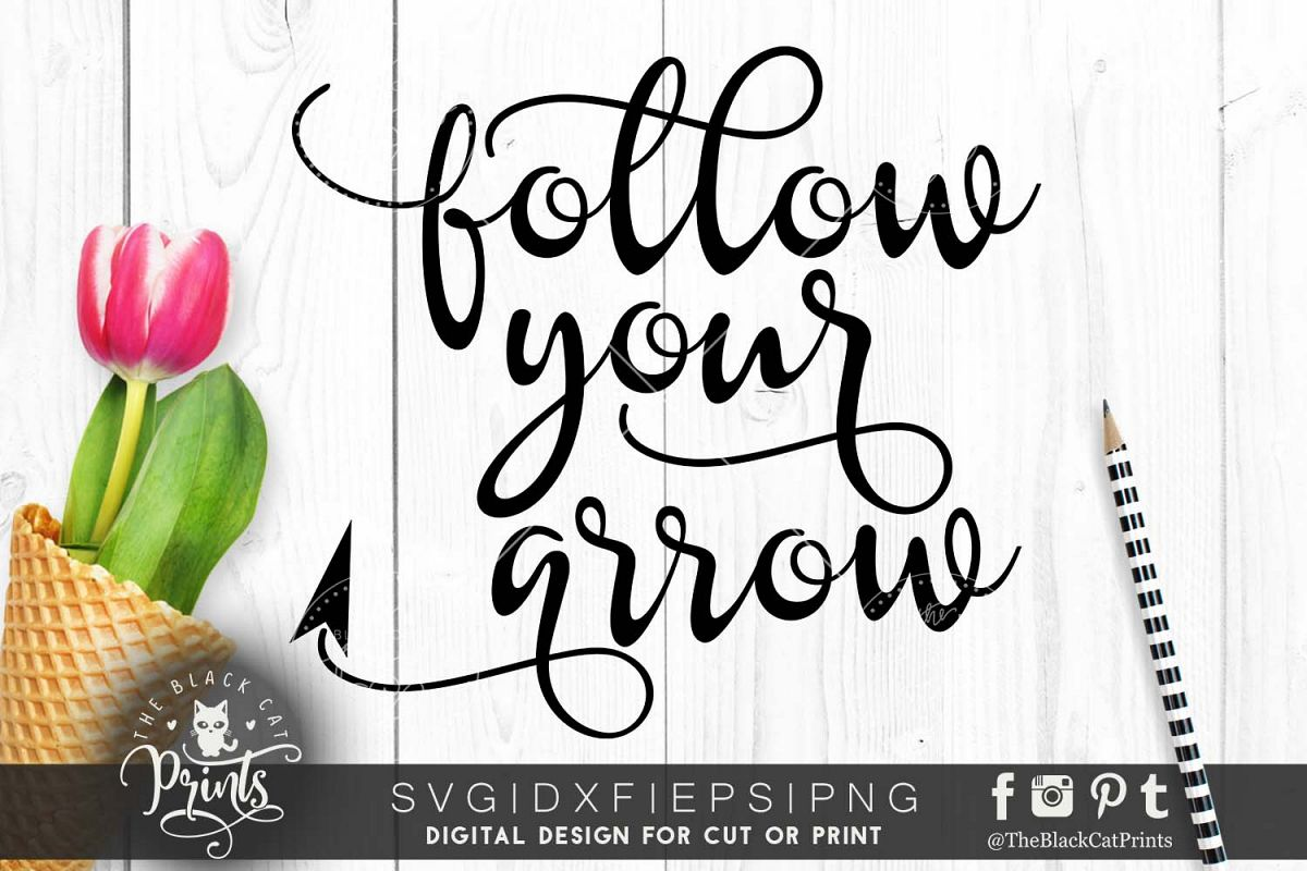 Follow your arrow SVG PNG EPS DXF example image 1