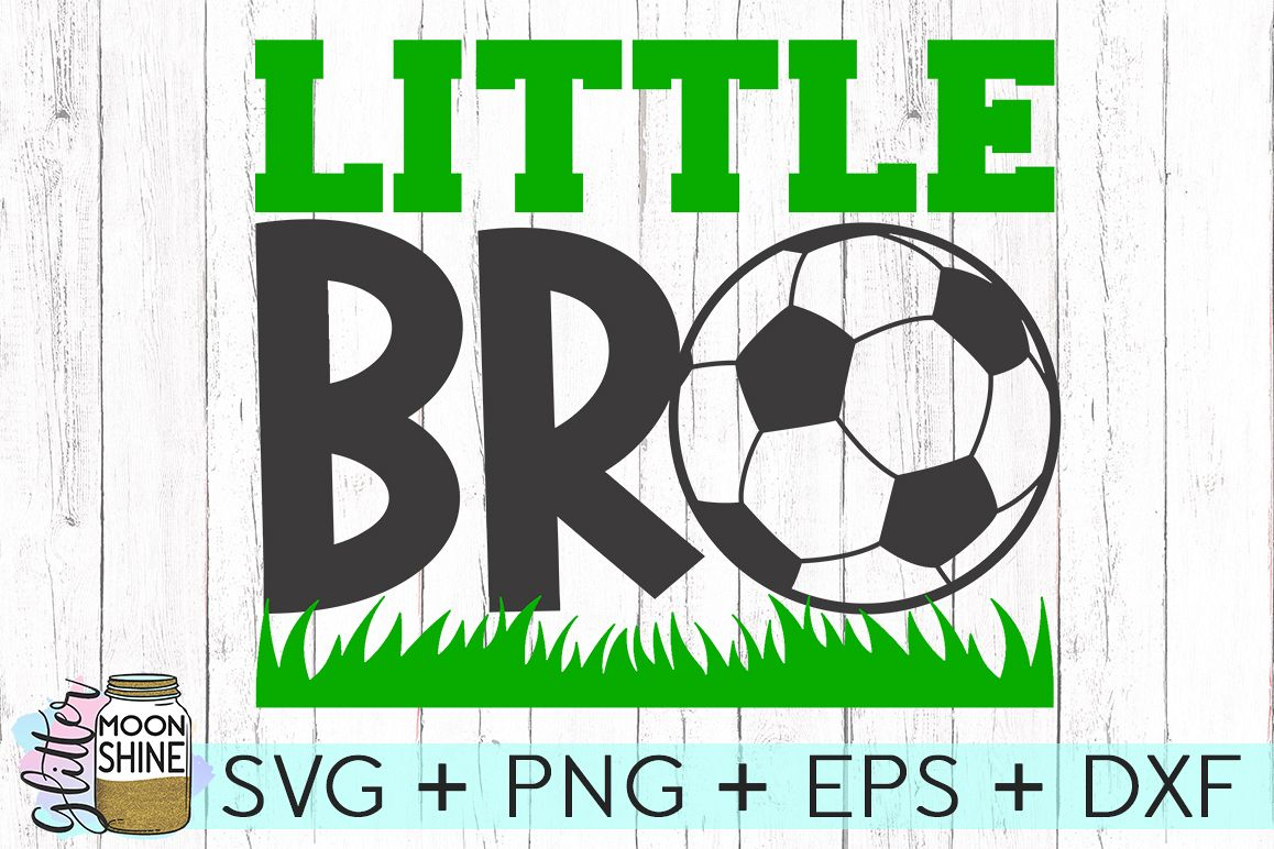 Little Bro Soccer SVG DXF PNG EPS Cutting Files example image 1
