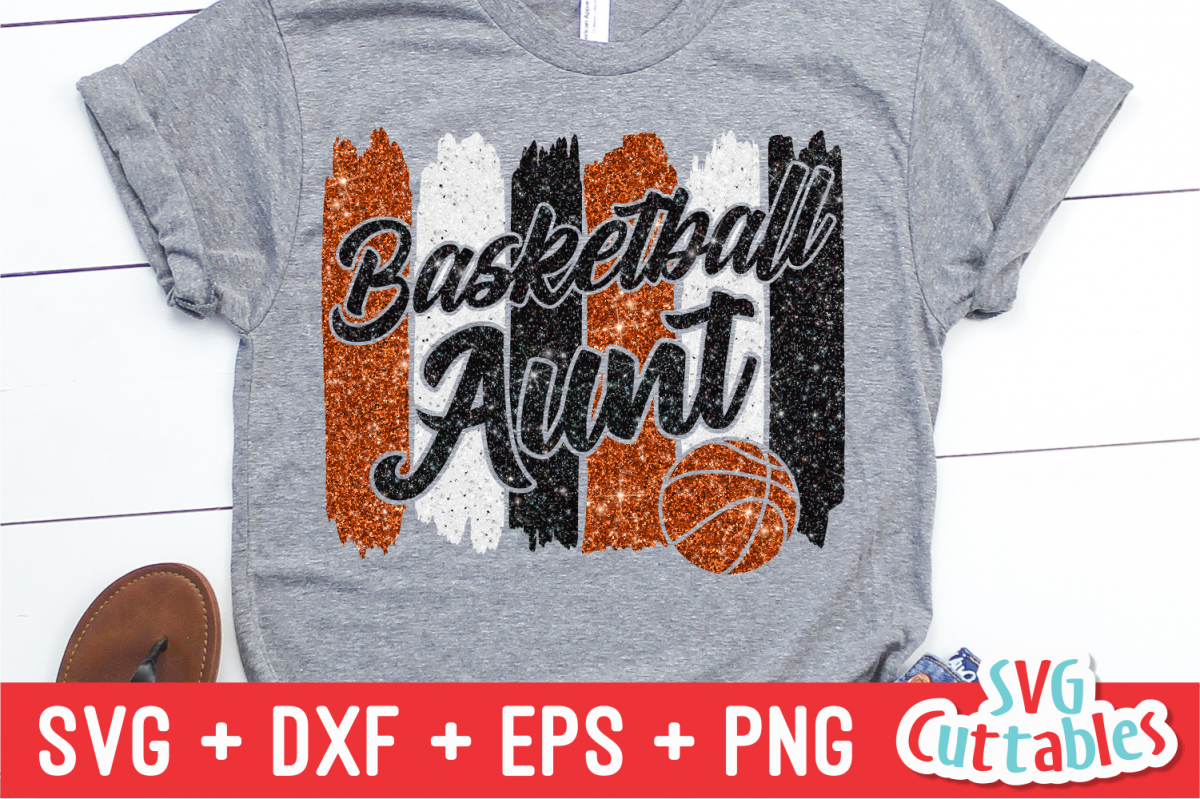 Basketball Aunt | SVG Cut File example image 1