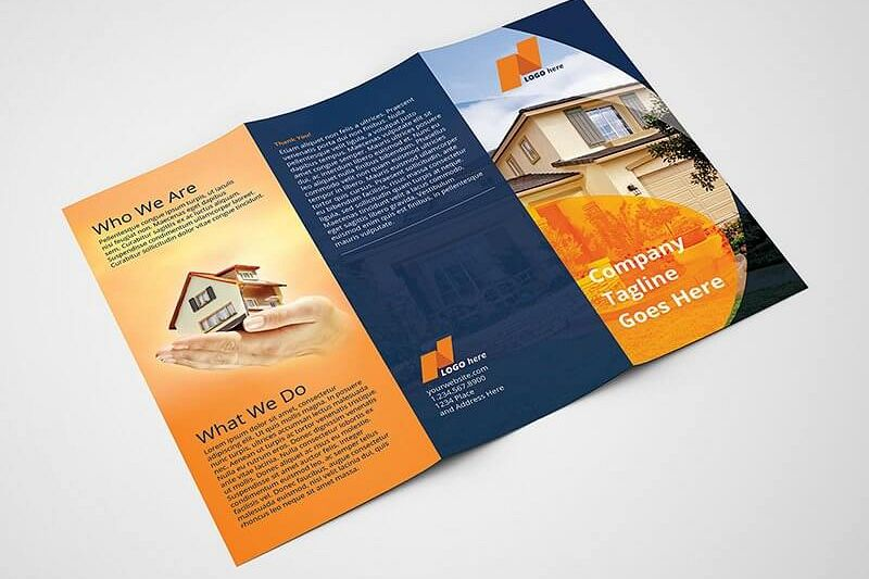 Real Estate Tri Fold Brochure Template Example Image 1