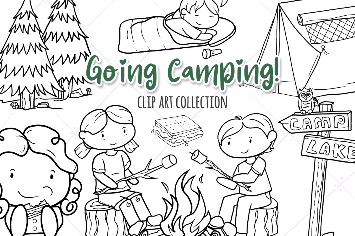 Going Camping Digital Stamps example image 1